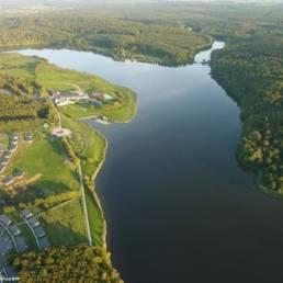 lac-val-joly vue aerienne - Eppe Sauvage - Etang fédéral - Parcours famille
