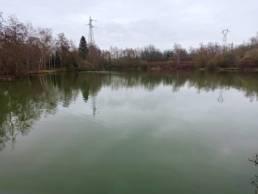 Étang de pêche des cheminots à Valenciennes dans le Nord