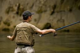 Pêcheur à la truite