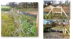 Photos des barrières posées dans le cadre des travaux de restauration du Saint Georges à Salesches