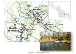Image de localisation du site de Salesches pour la restauration écologique du Saint Georges